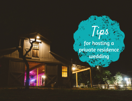 Tips for hosting a private residence wedding
