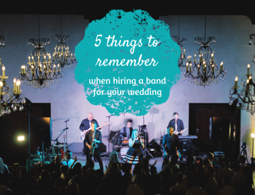 5 things to remember when hiring a band for your wedding