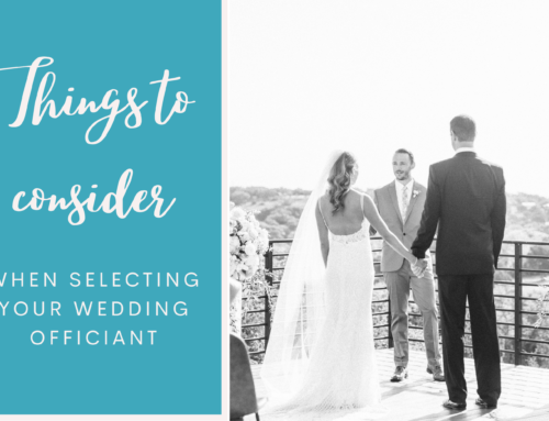What to think about when selecting your wedding officiant