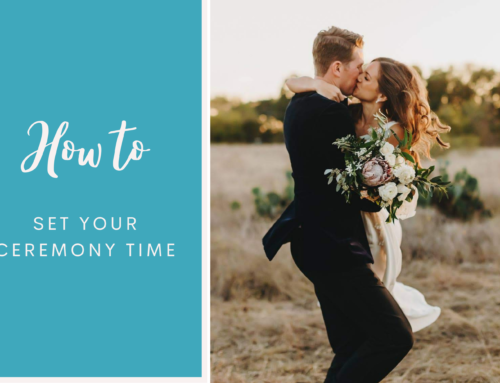 How to set your ceremony time